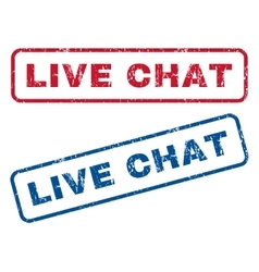 Live Chat Rubber Stamps vector