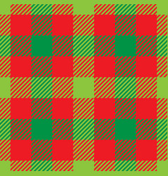 Lumberjack plaid pattern in red and green vector