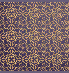 Luxury ornamental background in gold color vector
