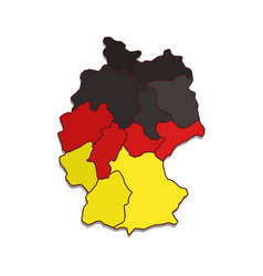 map germany with regions vector image