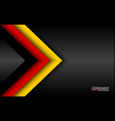 Modern overlayed arrows with german colors vector
