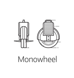 monowheel alternative city transport vector image