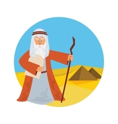 Moses Splitting The Sea - Moses splitting the red vector
