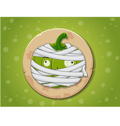 Mummy pumpkin icon vector