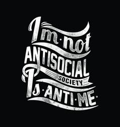 Not antisocial vector