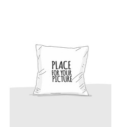 Pillow mockup with place for your design vector