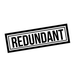 Redundant typographic stamp vector