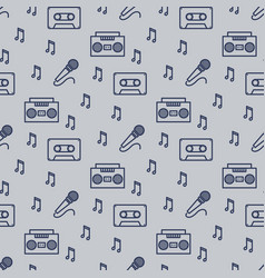 retro musician seamless pattern design vector image