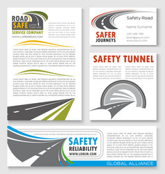 Road construction traffic safety banner template vector