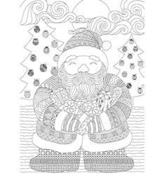 Santa coloring in vector