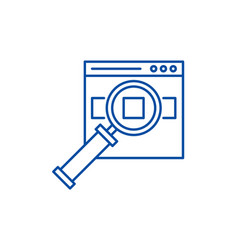 search for products on the site line icon concept vector image