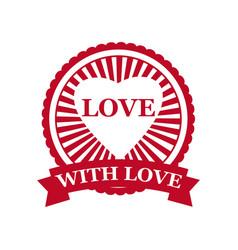 set valentine s day and wedding romantic love vector image