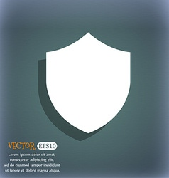 Shield Protection icon symbol on the blue-green vector image