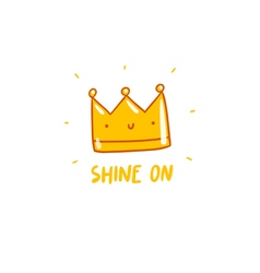 Shine on vector image