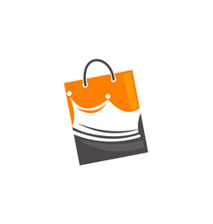 Shopping bag with crown vector