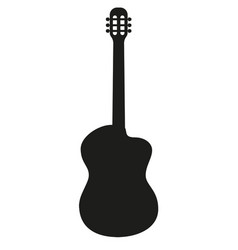 silhouette of classical acoustic guitar vector image