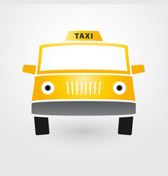 simple silhouette taxi car vector image