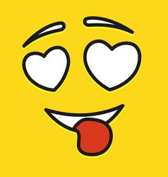 smile icon template design in love emoticon vector image