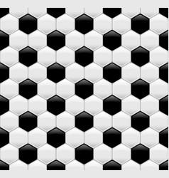 soccer ball seamless texture vector image