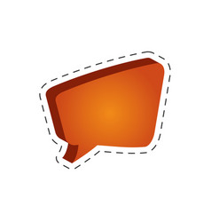speech bubble speak cut line vector image