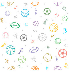 Sport theme seamless pattern background football vector