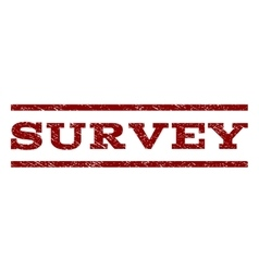 Survey Watermark Stamp vector