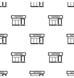 Tattoo salon building parlor icon black Single vector image