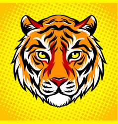 Tiger head pop art style vector