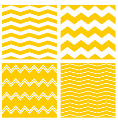 Tile chevron pattern set with yellow and white vector