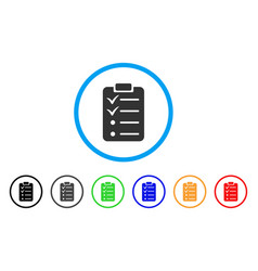 Todo list rounded icon vector
