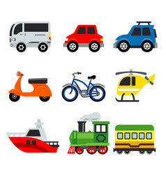 transportation car vehicles transport vector image