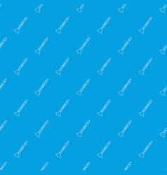 trumpet pattern seamless blue vector image