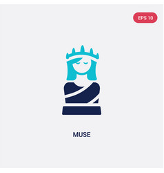 Two color muse icon from greece concept isolated vector