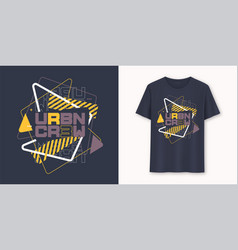 urban crew abstract geometric graphic t-shirt vector image