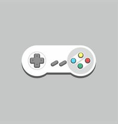 video game joystick icon vector image