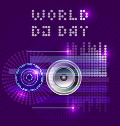 world dj day abstract dj radio music vector image