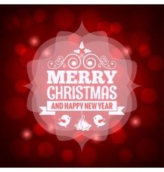 christmas vintage invitation background vector image