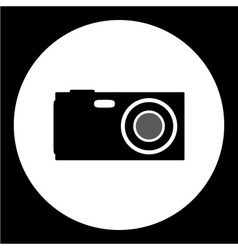 compact camera simple isolated black icon eps10 vector image vector image