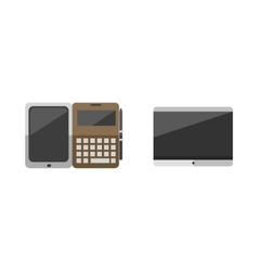 Computer portable tablet and notebook ebook vector image