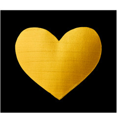 shining gold heart for you amazing design vector image vector image