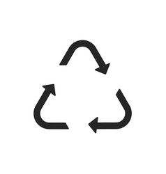 universal recycling symbol flat icon vector image