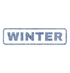 Winter textile stamp vector