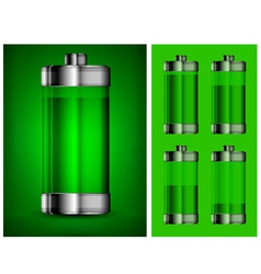 battery charge showing stages 10 vector image vector image