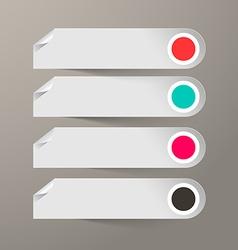 Empty Paper Labels Set vector image