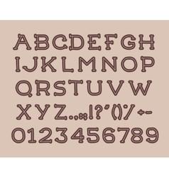 Hand drawin alphabet handwritting abc font vector