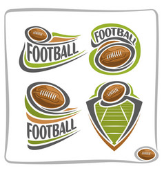 logo american football ball vector image vector image