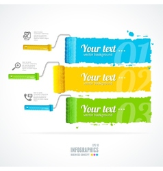 text boxes infographics roller brushes vector image vector image