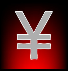 yen style on red vector image