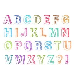 Alphabet set 3d form vector image vector image