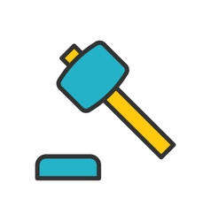 Auction outline icon vector image